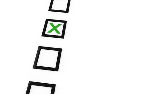 Check the box for the right answer Banco de Imagens