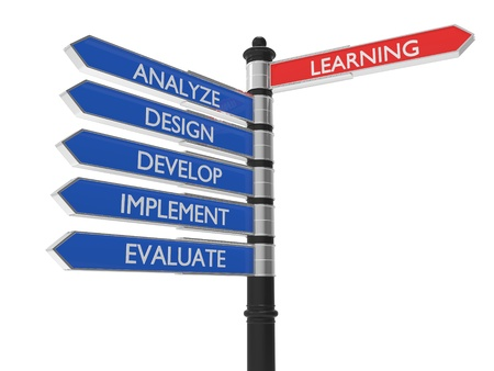 implementing: Red and blue signs of learning