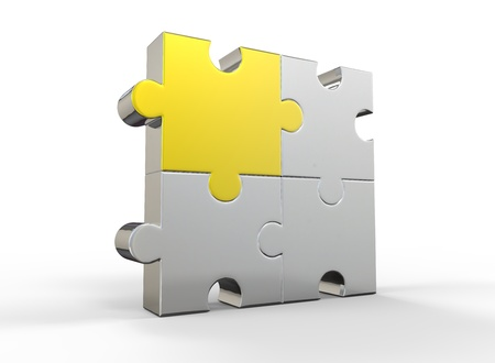 Gold and Silver Jigsaw Puzzle