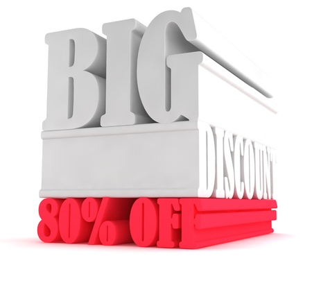 Eighty percent off sign 80% Stock Photo - 17250775