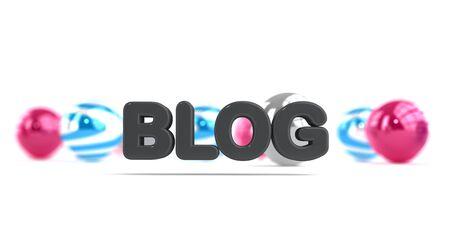 Stylish modern sign announcing the blog Banco de Imagens
