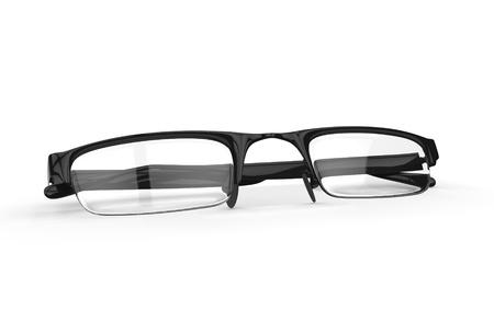 Black rimmed eyeglasses high fashion