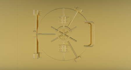Secure Vault Locking System - gold photo