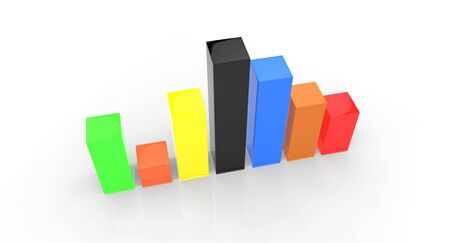 Bar chart showing challenges and growth Stock Photo