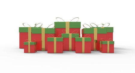 Several beautiful boxes of gifts