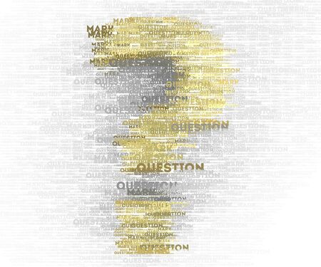Question mark special design element Stock Photo
