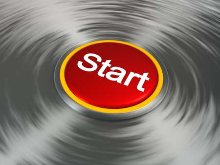 Red start shiny push  button Stock Photo - 17353340