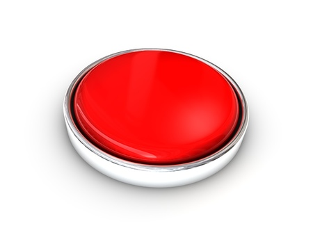 Red shiny blank button Stock Photo