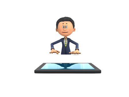 Business man with tablet computer Stock Photo - 17353286