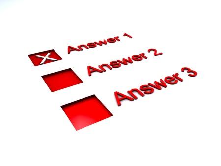 questionaire: Las casillas de verificaci�n para la encuesta y cuestionario Foto de archivo