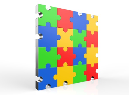 Colorful jigsaw puzzle 写真素材