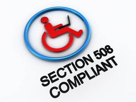 Section 508 accessibility disability Stock Photo