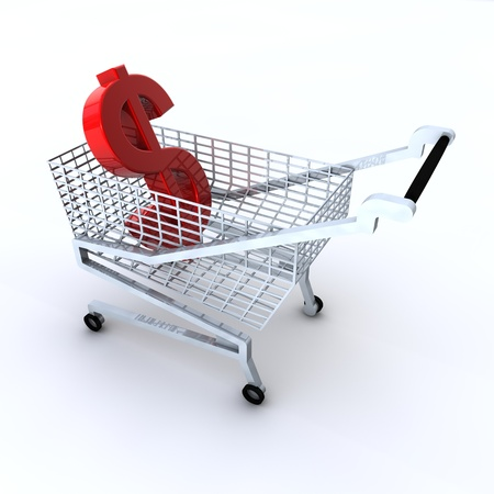 Shopping costs money Stock Photo - 17385087