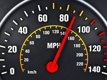 Speedometer close up with vibrant colors Stock Photo - 17433082