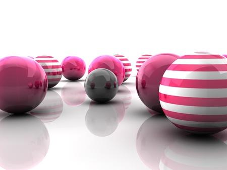 Sphere background random colors