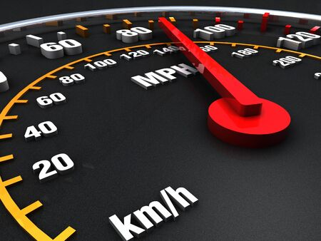 Speedometer close up with vibrant colors Stock Photo - 17433079