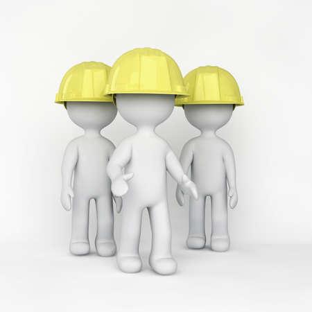 Group of working men 写真素材