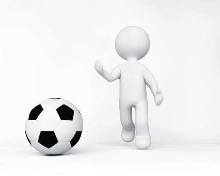 Person playing sport Stock Photo
