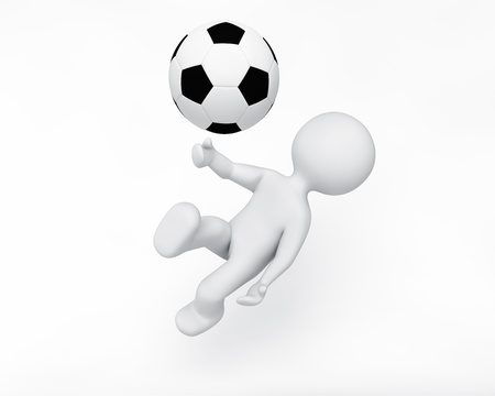 3d ball: Person playing sport Stock Photo