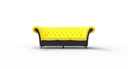 Sofa upholstered - seating for three Stock Photo