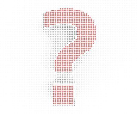 Question mark special design element 写真素材