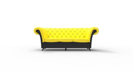 upholstered: Sofa upholstered - seating for three Stock Photo