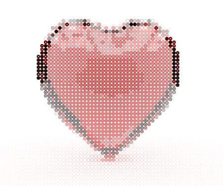 Stylish glass heart design element