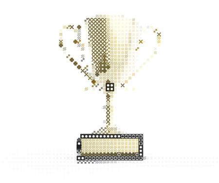 Trophy design element isometric style 写真素材