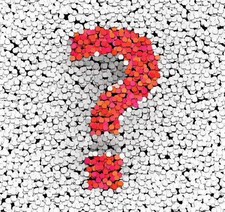 Question mark graphic design element
