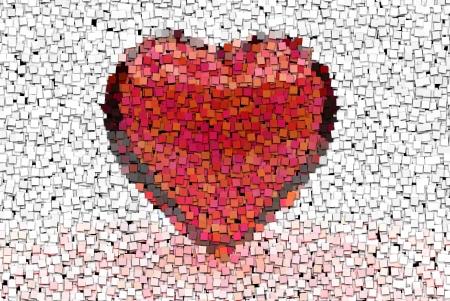 Big red heart graphic design element