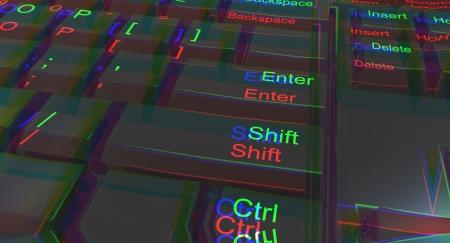 Three dimensional keyboard coming at you