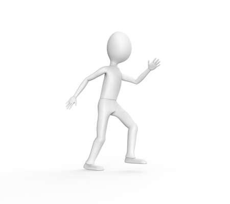 egghead: Uomo che cammina sullo schermo