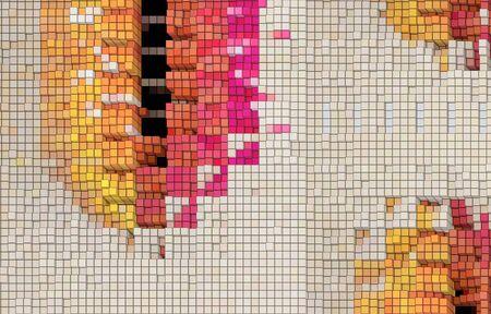 Dimensional design element colored tiles 写真素材