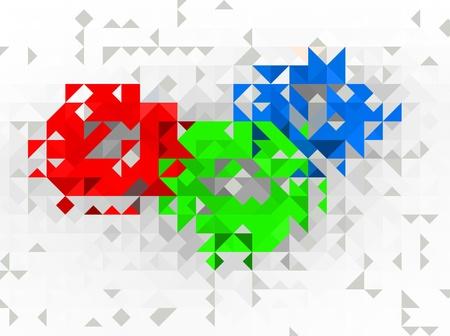 Abstract trio background design element