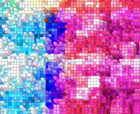 Beautiful abstract background of pink purple blue Stock Photo