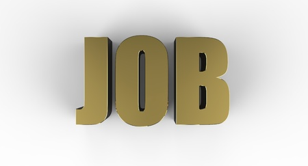 Three dimensional sign for job Stock Photo - 17572733