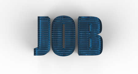 Three dimensional sign for job Stock Photo - 17572786
