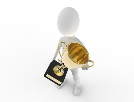 Een trofee voor de winnaars Stockfoto