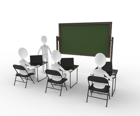 Person at the head of the class