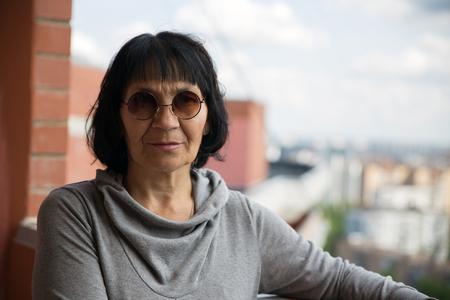 pensioner: Senior pensioner woman in sunglasses