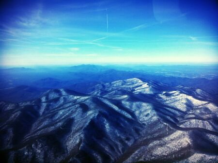 The view of the Appalachian mountains from a Cessna flying over central Virginia.  Reklamní fotografie