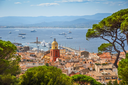 Saint-Tropez town panorama view