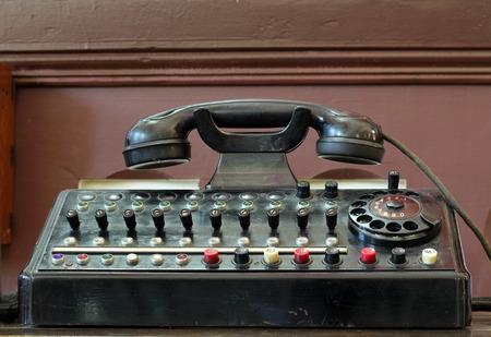 Old Telephone Switchboard Standard-Bild