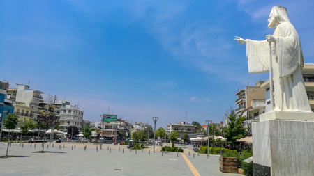 Orestiada  Greece - June 3 2017: Orestiada Square