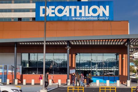 Bayrampasa, Istanbul  Turkey - December 24 2018: Decathlon Store on Forum Istanbul Shopping Mall Editorial