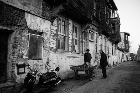 Cankurtaran, Fatih, Istanbul  Turkey - December 26, 2012: A street in the old town of Istanbul, Cankurtaran
