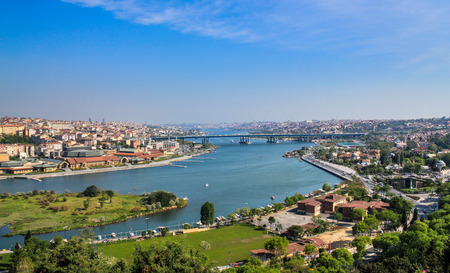Halic, Golden Horn Panoramic view from Pierre Loti Hill, Istanbul, Turkey