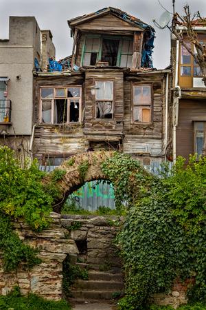 Old wooden house in Istanbul, Turkey Editöryel