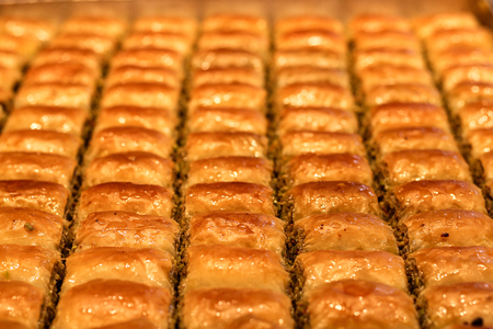 Turkish dessert baklava Stok Fotoğraf