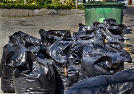 Street city trash bags